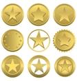 Golden stars set vector image