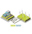 green energy concept isometric vector image vector image