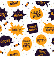 halloween speech bubbles comic bubbles black and vector image vector image