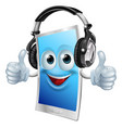headphones phone man vector image vector image