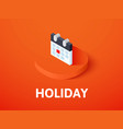 holiday isometric icon isolated on color vector image