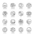 internet and networking icons vector image