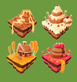 isometric sweet islands vector image vector image