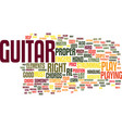 learn and master guitar text background word vector image vector image
