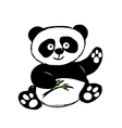 Little cute panda isolated on white vector image vector image