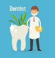 male cartoon dentist doctor in medical uniform vector image