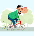 man on a bicycle vector image vector image