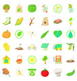 material icons set cartoon style vector image