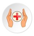 Medical cross logo flat style vector image