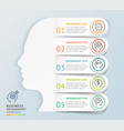 modern infographics head design template vector image vector image