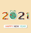 new year 2021 background vector image