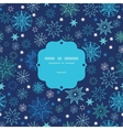 Night snowflakes frame seamless pattern background vector image vector image