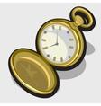old opened vintage pocket clock vector image vector image