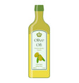 olive oil bottle of natural oil organic liquid vector image vector image