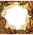 Orange frame vector image vector image