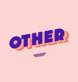 other font 3d bold style modern typography vector image vector image