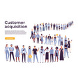 people crowd stand in queue business people vector image vector image