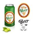 Premium beer label design vector image