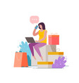 purchase goods using online store shopping vector image vector image