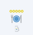 restaurant rating icon vector image vector image