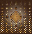 rhombus custom gold halftone abstract background vector image vector image
