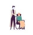 robot nurse for elderly people flat vector image