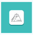 round button for mountains nature outdoor sun vector image