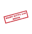 Saint Kitts And Nevis Rubber Stamp vector image