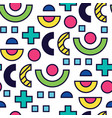 seamless pattern in 90 80 style vector image vector image
