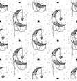 seamless pattern mystical moon with stars stars vector image vector image