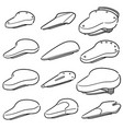 set of bicycle saddles vector image vector image
