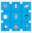 set of simple holiday icons elements cargo bag vector image vector image
