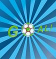 Shout a goal vector image vector image