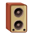 Sound speaker icon isometric 3d style vector image vector image