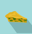spinach cake icon flat style vector image