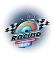 sport racing championship 2019 vector image vector image