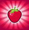 strawberry icon design vector image vector image