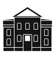 street courthouse icon simple style vector image vector image