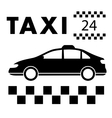 taxi signboard around the clock services vector image