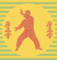 The the person in a kimono is engaged in karate vector image
