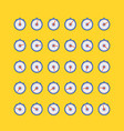 timer icon set in flat style vector image