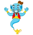 Friendly genie cartoon vector image