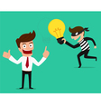 Piracy Thief stealing idea from businessman vector image