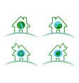 a set of green environmental vector image vector image