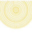 abstract golden circle cofetti background vector image