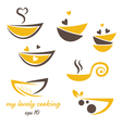 Abstract icon of eco bowl with leaf and heart vector image vector image