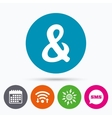 Ampersand sign icon Logical operator AND vector image vector image