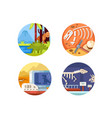 archeology set of icons vector image vector image