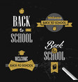 back to school gold glitter typography quote set vector image vector image