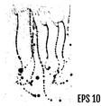 black paint ink splash brushes ink droplets blots vector image